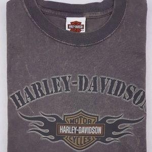 Harley Davidson T Shirt Large Gray Kitty Hawk Mens